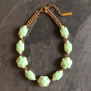 Vince Camuto Green Faceted Gem Statement Necklace
